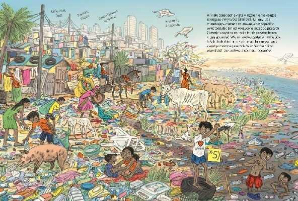 Ilustracja z książki Śmieci najbardziej uciążliwy problem na świecie